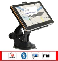 "5"" inch Car GPS Navigation portable with Bluetooth AV-in 4GB memorey DDR 128MB FM MP3 Player with all the worlds Map"