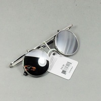 free shipping Fashion lady gaga vintage circle sunglasses reflective glasses sunglasses with reflective lens