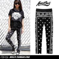 2014 Cashew flowers amoeba Hip Hop Dance Leggings Stars KTZ Bandana Men Women New Fashion Pants