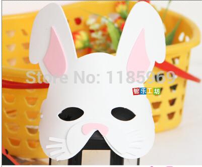 Eva karikatür maskesi hayvan maskeleri anaokulu çocukları günü