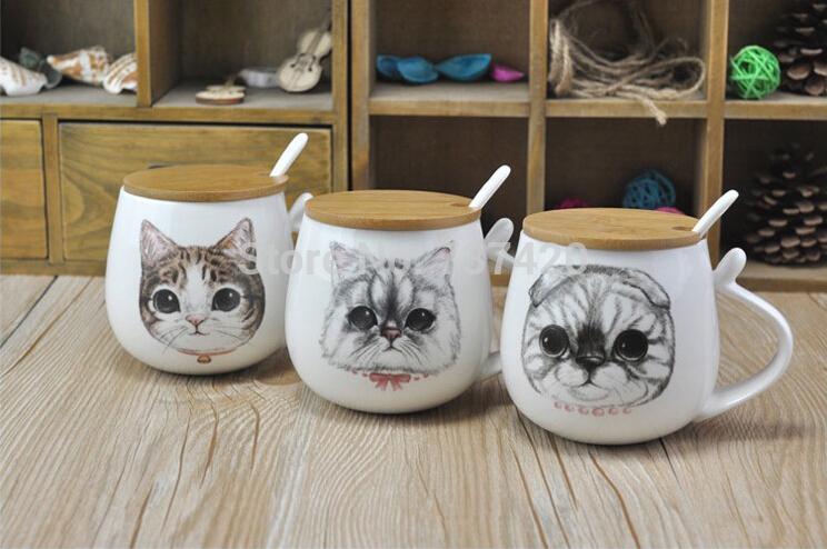 Coffee Spoon Drawing Lid Porcelain Spoon Coffee