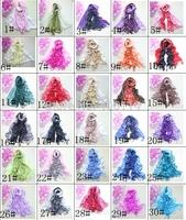10pcs Mixed Pashmina Cashmere Fade Color Shawl Wrap Women's Girls Wraps Ladies Scarves Soft Fringes Scarf 30Colors