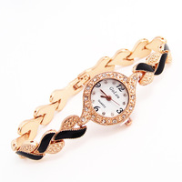 Wholesale Brand Fashion Quartz Watch Women Dress Rhinestone Wrist Watches Ladies 1E217