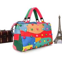 Bolsa Limited Bolsas free Shipping 2014 New Women's Genuine Leather Handbag Multicolour Sheepskin Bag One Shoulder Cross-body