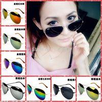 2014 New Cheap Unisex Polarized Frog Mirror Sunglasses Women Aviator Sunglass Vintage Eyeglasses Men brand designer Sun glasses