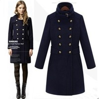 New Arrival Long Woollen Women Winter Coat Fashion Casacos Femininos
