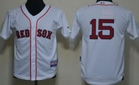 Cheap 2014 Youth Boston Red Sox 15 Dustin Pedroia Blue And White Jersey MLB Baseball Jersey,Free Shiping Wholesale From China