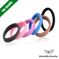 100 Pcs/Lot,Top Quality Multicolor Hair Band Elastic Cotton Seamless Headband Hair Ties Rope Ponytail Hair Accessories Women