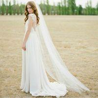 New  1T  White  Bride  Headdress  Accessories  + Comb  Veil
