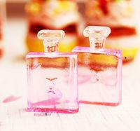 Dolls Toys For Girls1/12 Dollhouse Miniature Bathroom Bedroom 2PCS Plastic Perfume bottles  yellow pink blue Furniture