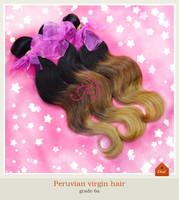 Hot! Ombre Hair Extensions 6A peruvian Virgin Hair Body Wave Queen Hair Products Three Tone 3-4 pcs 1B #4 #27 Human Hair Weave