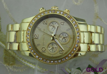 Big Fashion Watches Rhinestone Design Rose Gold and Gold Color Style Lady s Watch Top Quality