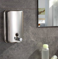 e_pak Free Shipping 5730  Wholesale And Retail Bathroom Wall Mounted Stainless Steel Hand Liquid Soap Dispenser 500ml Soap Box