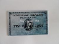 Wholesale 10pcs/lots Fashion Express American Credit card 2GB -32GB USB Flash 2.0 Memory Drive Stick Pen/Thumb/Car free shipping