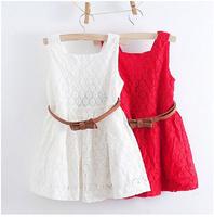 110-150cm Girls dress High quality Summer children dresses girl's grid fashion dress kids wear fashion 100%cotton