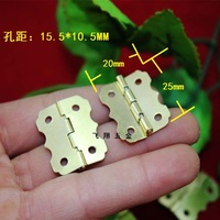 Batch Packaging Boxes Small hinge lace butterfly hinge wooden wine box 25 * 20mm hinge 90 degrees