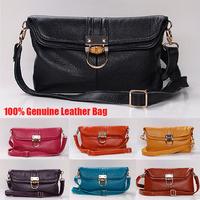 Hot 100% Genuine Leather Bags Women Handbag 2014 Fashion Embossed Shoulder Bags Women Leather Handbags Women Messenger Bags