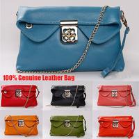 Hot 100% Cow Genuine Leather Bags Women Handbag 2014 Vintage Embossed Shoulder Bags Women Leather Handbags Women Messenger Bags