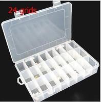 1pcs24grids plastic Storage box Loom rubber storage box casket Nail box