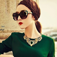 The same paragraph Free shipping luxury queen carved Baroque sunglasses tide wholesale