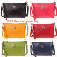 Women Bag New 2014 Vintage Embossed 100% Genuine Leather Handbags Printing Pattern Shoulder Bags Women Messenger Bags 6 Colors