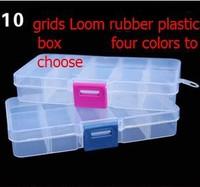 5pcs 10 grids detachable Loom kit plastic box Storage box jewel case fishing box Loom rubber storage box