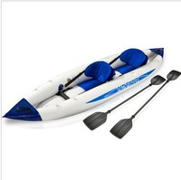 JILONG 2 person pathfinder canoe inflatable boat sport kayak 400*90cm, include 2 seat+foot pump+2 paddle+carry bag