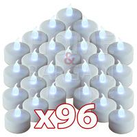 96pcs/lot LED tea lights flameless decorative candle for wedding white candles long lasting CR2032 Batteries safe to use