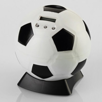 free shipping money box  digital electronic coin counter piggy bank money saving jar football
