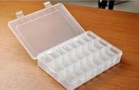 5pcs 24grids plastic Storage box Loom rubber storage box casket Nail box