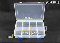 10pcs 8grids plastic Storage box Loom rubber storage box casket Nail box pill case