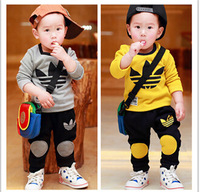 100% Cotton Boys suit children 2 pc set jacket + trousers boy set it free shipping children fall suit