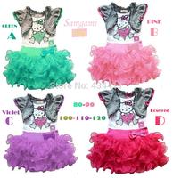 Hot sale!1PCS Retail, New 2014 very beautiful Girl Dress cartoon hello kitty Princess Dresses Children tutu dress free shipping