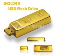 Free shipping  2014 NEW Metal 16GB 32GB 64GB (8GB up to) Gold bar u disk USB 2.0 Flash pen drive memory card car key