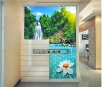 Mural tv background wall landscape painting wallpaper libang wallpaper 41 waterfall
