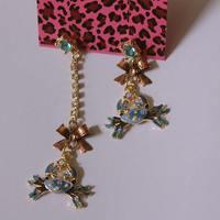 $15 Free shipping 2014 new fashion Fashion crab long short design earrings 130630 gold earrings earrings for women gifts