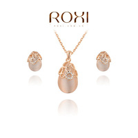 ROXI Christmas gift fashion opals set, 100% hand made,fashion jewelry earrings+necklace,20700371080S