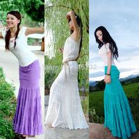 Free Shipping 2014 White Elegant ol Long Floor Length Skirt Slim Hip Fish Tail Skirt For Women Mermaid Style Sexy Summer Skirts