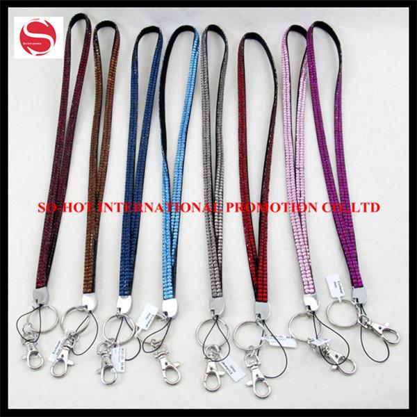 Free shipping assorted colors bling neck lanyard, crystal lanyard, rhinestone lanyard(China (Mainland))