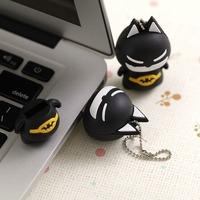 Wholesale 10pcs/lot USB Flash Drive Novelty Cartoon Batman 4GB 8GB 16GB 32GB REAL Capacity 4G 8G 16G 32G Flash Memory Drive