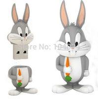 Free shipping 4GB 8GB 16GB 32GB cartoon Bugs Bunny Model USB flash drive 2.0 Pen memory U disk