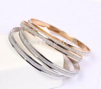 free shipping 2014 summer new fashion Double circle ground rose gold bracelets NO O63