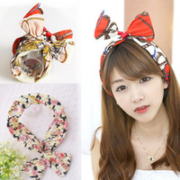Vintage national trend bohemia rabbit ears bow hair bands hair accessory 1piece free shipping/drop shipping