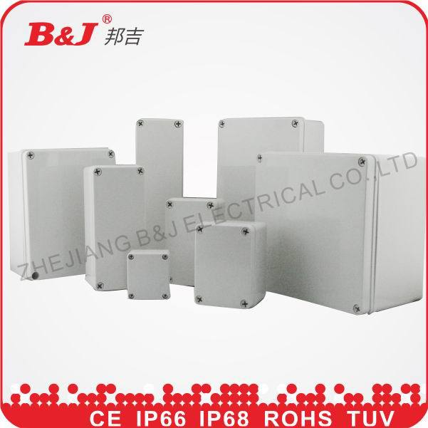 wenzhou B&J IP68,grey colour,size 58x64x35mm waterproof ABS PC plastic electrical box(China (Mainland))