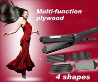 New 2014 hair straightener 4 shapes 3in 1 Fashion prancha straightening irons flat iron Curling Iron 110~240V Free Shipping