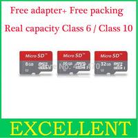 USB card reader free micro sd card 32 GB 4gb 8gb 16GB 64gb microsd TF Card for Cell phone mp3