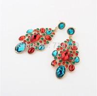New 2014 Fashion Luxury Vintage Retro Shiny Gem Drop Crystal Rhinestone Earring EA765
