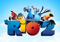 Rio 2 little boy clothes children cotton short sleeve T-shirt Rio2 blue jays parrot at the new summer 2014
