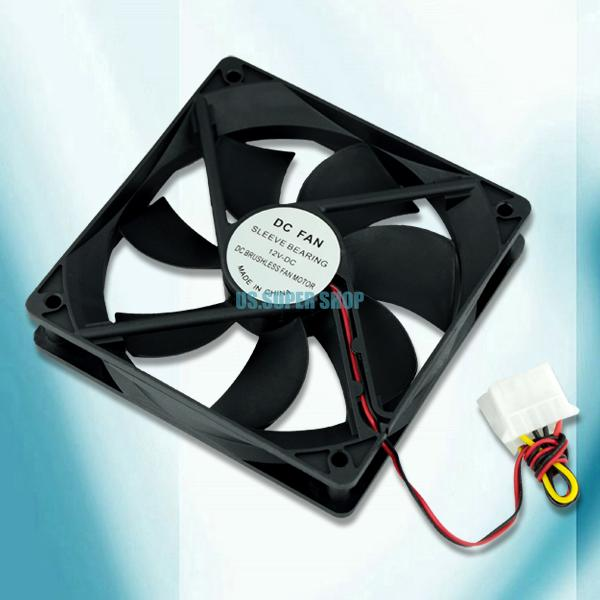 EL0154 120mm Computer PC Case 4 Pin Cool Cooler Cooling Fan Black(China (Mainland))