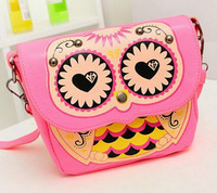 2014 new hot sale price the owl mini printing bag single shoulder bag